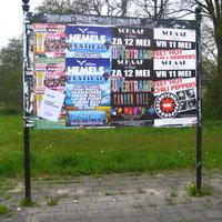 De officiële plakplaats van Hardegarijp     (Friesland)