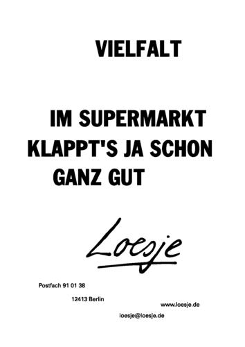 VIELFALT / IM SUPERMARKT KLAPPT