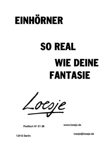 EINHÖRNER / SO REAL WIE DEINE FANTASIE
