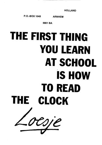 377. THE FIRST THING YOU LEARN AT SCHOOL IS HOW TO READ