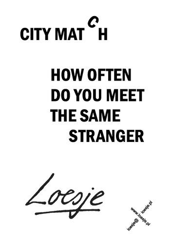 how to meet a stranger